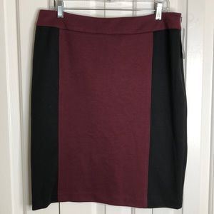 3/$15 NWT New directions sz 12 red black skirt